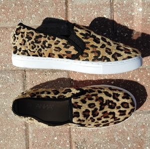 Anna Leopard Print Slip On Sneaker Shoes Size 7.5
